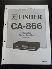 ORIGINALI service manual Fisher Integrated Stereo Amplifier ca-866