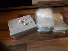 336xTransparente Bodenbeutel 15x10x3,5cm Cellophanbeutel+782x Verschluss-Clipse