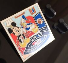 Mickey and Donald Pin (LE: 500): From The Main Street Gazette Pin Set - Football