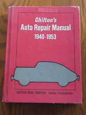 Chilton's Auto Repair Manual 1940-1953 #5631