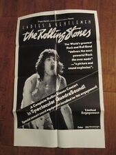 Ladies And Gentlemen The Rolling Stones - Movie Poster  - The Rolling Stones