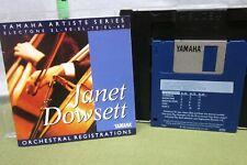 JANET DOWSETT Orchestral Registrations floppy disk Yamaha Artiste Series 1993