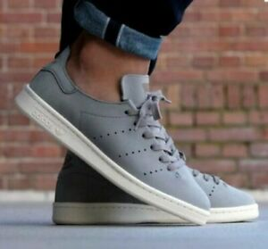 Adidas Men's 6 Stan Smith Lea Sock Leather Sneakers BB0007 New Gray Grey