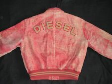 * Diesel giacca di pelle * Masterpiece * VINTAGE * Equipment * Cosmos * DSL * rosso * Gr: L * Tip Top