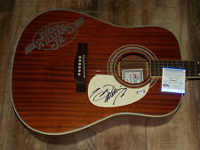 Hank Williams jr signed guitar PSA COA AUTOGRAPHED acoustic
