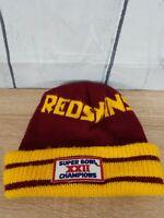 Super Bowl XXII - Washington Beanie Winter Hat Cap VG Condition Free Shipping
