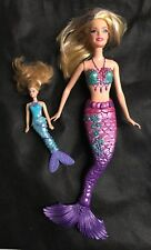Barbie A Mermaid Tale Color Change Purple Doll and McDonalds Xylie