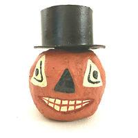 Paper Mache Pumpkin Jack O Latern Ornament