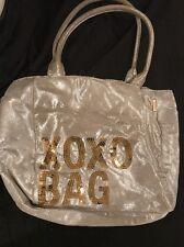 Soft Silver XOXO Bag Gold Sequins