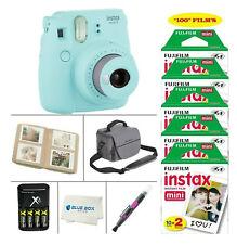 Fujifilm Mini 9 Instant Film Camera (Ice Blue)+100 Film Sheets + Accessories+