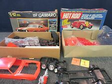 2 REVELL HOT ROD 7446 1/25 SCALE MODEL KIT 1988 MONOGRAM 1/12 1969 CAMARO 2802