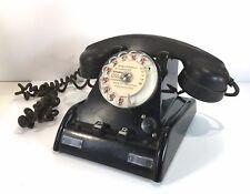 Téléphone ancien NOR D 1 / 2 en bakélite noir