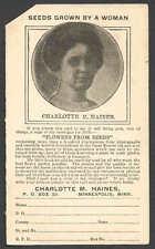 Ca 1911 Pc Minneapolis Mn Uy6R Unused Preprinted Woman Seed Grower Corner Cut