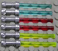 LEGO - 6 x Laserschwert Lichtschwert Griff silber in 3 Farben / 64567 NEUWARE