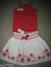 NWT BABY GAP GIRLS CLEMENTINE FLORAL SKIRT & TANK TOP SET OUTFIT SIZE 3 3T 2 2T