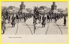 cpa Dos 1900 Stéréo 75 PARIS Défilé du 46e Régiment de Ligne MUSIQUE en Tête