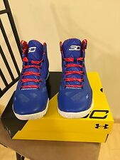 New Under Armour Men's Steph Curry Two Providence Road - Royal Blue Red White