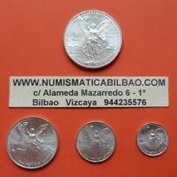MEXICO 1/2 1/4 1/10 1/20 ONZA 1994 Serie LIBERTAD UNC 4x SILVER COINS OZ Mejico