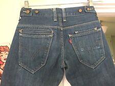 Levis 511 Skinny 28 X 30 Two Horse Denim Jean 8 Pocket Red Tab & Side Cinch RARE