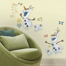Two Large OLAF WALL DECALS Disney Frozen Fever Room Stickers Kids Bedroom Decor