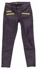 1e38ff3bd380e Rock & Republic Banshee Skinny Moto Black Faux Leather Pants Size 30 Women's