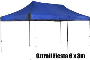OZTRAIL BLUE FIESTA 6x3m DELUXE GAZEBO PAVILION Marquee Stand