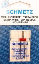 Zwillings Nadel Extra Breitfür Nähmaschine von Schmetz 130/705 6,0/100