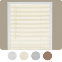 "Cordless Window Mini Blinds 1"" Slats Room Darkening Vinyl Blind 64"" Length"