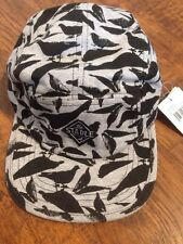 STAPLE 5 PANEL STRAPBACK PIGEON PATTERN IN BLACK AND GREY!!!