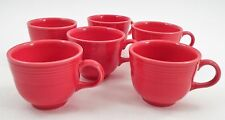 Lot of 6 Clean EUC Homer Laughlin Fiesta Fiestaware Scarlet Red Coffee Tea Cups