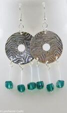 Glass Peridot Costume Earrings