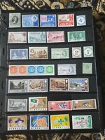 British Colonies Gibraltar Stamp Collection - Mint Hinged MH - 2 Scans - E26