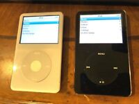 Apple iPod Classic 5th Gen White/Black 30GB  MP3 Video Player Lot 2 ipods