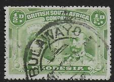 Rhodesia stamps 1910 SG 119 Double DOT below CANC VF ERROR