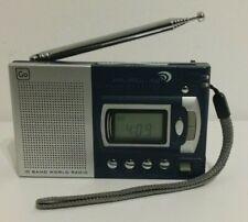 GO Travel 10 Band World Radio Receiver FM Medium Wave Short Wave + Alarm Clock