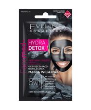 Eveline HYDRA desintoxicación Mascarilla con piel sensible seca carbón activo 7ml