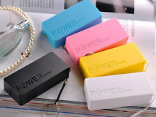 Charger Case 5600mAh 2X 18650 USB Power Bank Battery For iPhone Sumsang Random