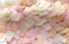 LUCE biodegradabili rosa, pesca, avorio piccolo cuore Coriandoli per 3 CONI