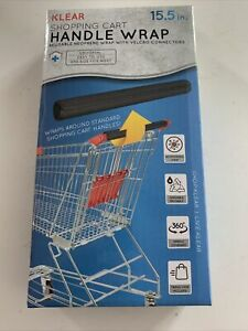 New KLEAR Shopping Cart Handle Wrap Reusable Guard Cover Black