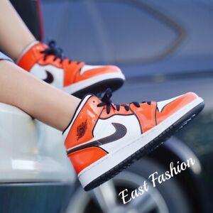 Nike Jordan 1 Mid SE Turf Orange Black White DD6834-802 Men's/GS Sizes