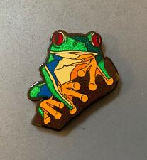 Tadpole - Red-Eyed Tree Frog Geocoin - Black Nickel