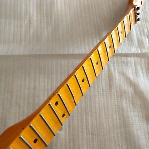 Best 22 Fret Reverse head Full scalloped Electric Guitar Neck Maple Locking nut
