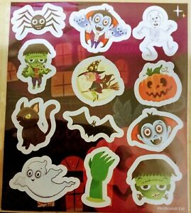 6 Sheets HALLOWEEN Stickers Kids Girls Childrens Party Bag Stocking Fillers