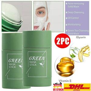 2*Green Tea Purifying Clay Stick Mask Grün Tee Oil-Control Anti-Acne Fine Solid