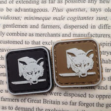 2 Pcs Mini Gear Solid Fox Hound Badge 3D Tactical Army Morale Pvc Patches
