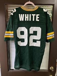 Vintage CHAMPION Green Bay Packers #92 Reggie White NFL Football Jersey VTG 90's