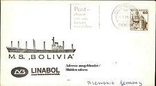 Bordpost Brief Schiffspost Schiffsstempel MS BOLIVIA Linabol Shipletter 1979