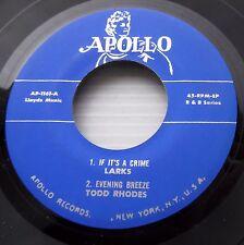 APOLLO R&B 45 ep repro LARKS Todd RHODES Roy HAWKINS Charles BROWN AP1161 bb2794