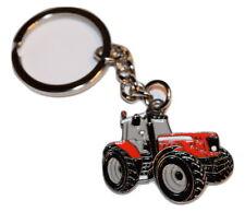 Red Tractor Keyring Gift Farming Enamel & Metal Christmas Massey Ferguson Shape