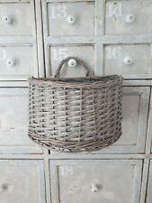 Wicker rattan tray basket storage decor modern country wall display basket